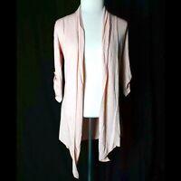 Molli & Mia Women's Size Medium Pink Open Drape Cardigan Sweater
