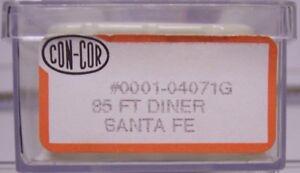 Con-Cor N scale Stock #04071G Santa Fe 85' Diner
