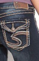 SILVER Jeans Sale Low Tuesday Surplus Flap Denim Stretch Jean Mid Shorts Size 24