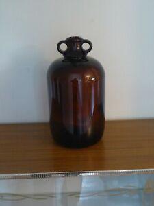 Rare Vintage 5 Litre Brown Glass Demijohn