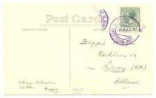 NEDERLAND S.M.N. 1926 FOTO  PPC= M.S.  J.P. COEN =  POSTAGENT IN VIOLET  - F/ VF