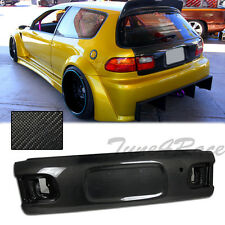 For 92-95 Civic Rear Carbon Fiber Trunk Si EG6 Hatch OE Factory Style Kit 3Dr