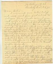 1910  Letter from Berekley California to family member in Iowa