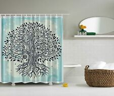 Tree of Life Chinese Bonsai Roots Bohemian Hippie Evil Eye Beads Shower Curtain