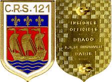 C.R.S. 121, LA ROCHELLE, émail, dos guilloché plat, Drago Romainville (5844)