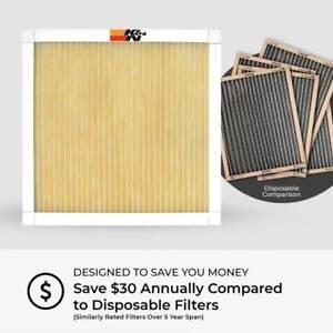 K&N Washable Reusable HVAC FILTER **FREE SHIPPING**