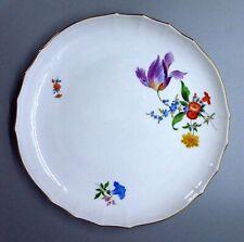Kuchenschale Gebäckschale 28 cm Meissen Bunte Blumen 1.Wahl TOP Zustand