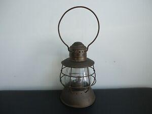 Rare Antique ALL BRASS PAT. 1869 (PARMALEE & BONNELL) Railroad Kerosene Lantern