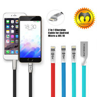Mosafe® Original 2 in 1 Lightning USB Charging Cable For iPhone X 6 6S 8 7 Plus