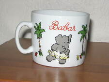 Babar the Elephant Children's Porcelain Cup Mug French Lourioux France