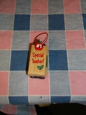 "Chrismas Ornament Enesco #1 Special Teacher Chalkboard Eraser Shape 2 5/16"" High"