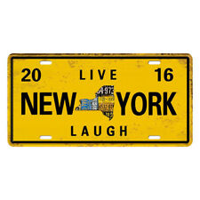 Shabby Chic Metal Tin Sign Live New York Dining Pub Bar Cafe Wall Art Decor