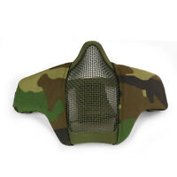 Tactical Airsoft Half Face Mask CS Paintball Mask Military WL Camouflage