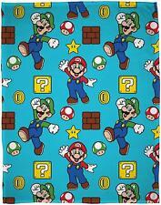 Nintendo Super Mario Gang Fleece Blanket Bed Throw Matches Bedding