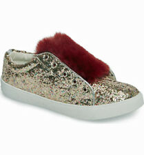 d64a94b04 Sam Edelman Britt Rita Big Girls Faux Fur Glitter Fashion Sneaker Size 2