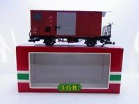 Lote 53726 Hermoso LGB 4027 Vagón de Carga Cerrado Mob 557 Gk Escala G En Ovp