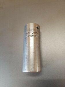 "MAC TOOLS 1/2"" DRIVE TFL- 21mm MADE IN USA SOCKET"