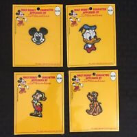 Walt Disney Character Appliques Streamline Patches Mickey Donald Pluto Pinocchio