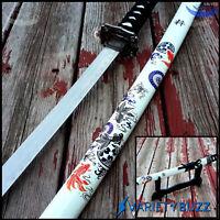 """40"""" Yin Yang Fish SAMURAI NINJA Bushido KATANA Japanese Sword Blade w/ STAND NEW"""