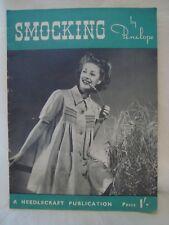 Original Vintage Smocking by Penelope Needlecraft Publication