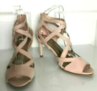 Ladies High Heel Shoes M&S Pink Strappy UK 3 35.5 US 5 BNWT Marks Women Insolia