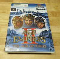 Age of Empires II The Age Of Kings Big Box PC Manual & Conquerors Expansion Gold