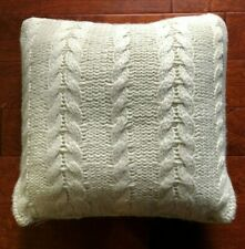 RALPH LAUREN Annandale CABLE KNIT Feather DECORATOR PILLOW Cream COLE Sweater