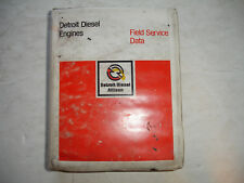 CHEAP Detroit Diesel Specifications FIELD SERVICE DATA Book Shop Manual READ ALL