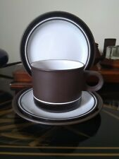 18 X Hornsea Contrast Trios Cups Saucers Tea Plates 1970s 1980s Lovely Condition