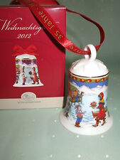 "Hutschenreuther Weihnachtsglocke 2012 ""nordkap"" Porzellan Neu/ovp"