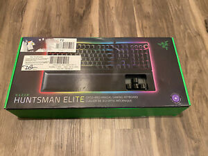 "Razer Huntsman Elite Gaming Keyboard with Wrist Rest - Open Box ""Damage Box"""