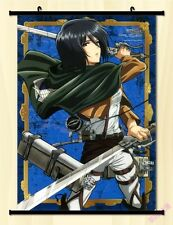 "8""*12"" Home Decor Japanese Anime Attack on Titan Wall Poster Scroll NA4"