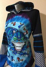 DiY Cheshire Cat Hoodie Alice In Wonderland Goth Unique Regular or 1X Plus Size