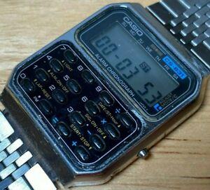 Casio CS-831 Mod 231 Men Digital Calculator Chrono Quartz Watch Hour~New Battery