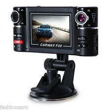 F30 Dual Lens 2.7 inch Auto Camcorder Car DVR Camera Windshield Driving Recorder