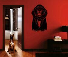 ik817 Wall Decal Sticker intelligent gorilla ape cigar coat for teens