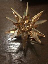 Nib Swarovski Star Candleholder Crystal Candle Holder Gold Tone #5064296