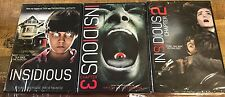 Insidious: Chapter 1,2&3 Complete Trilogy Collection (DVD, 3-Disc set)-Brand New