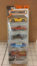 Matchbox Classic Ride 5-Pack Mustang, Firebird, Volkswagen, GT-40, GMC Stepside