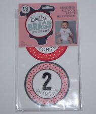 Belly Brags Stickers Baby Girl Milestones New