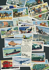 "TYPHOO TEA 1962 SET OF 24 ""TRAVEL THROUGH THE AGES"" TEA CARDS"