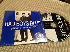 BAD BOYS BLUE - YOU'RE A WOMAN 98 CD SINGLE - REMIX + RAP REMIX CARD SLEEVE