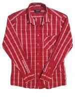 Men's Polo Ralph Lauren Long Sleeve Smart Fit Button Down Red Check Shirt Size L