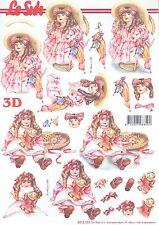 Feuille 3D à découper A4 Poupée Victorienne 8215.553 Decoupage Victorian doll