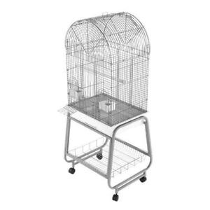 A&E® Opening Dome Top Bird Cage, Plastic Base, and Removable Metal Stand