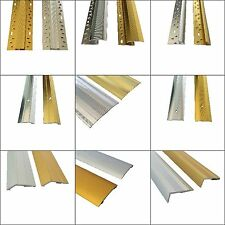 Carpet Metal Cover Strip, Door Bar Trim - Threshold - Brass/Silver