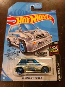 Hot Wheels 2020 '85 Honda City Turbo II ZAMAC HW Race Day #5/10 ***ERROR*** NEW
