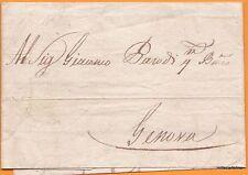 1817 SAMPIERDARENA PREFILATELICA G.BATTA RIVARA SCRIVE A BANCO G.PARODI