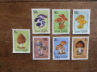 VIETNAM 1983 MUSHROOMS 7 DIFFERENT C.T.O. USED STAMPS