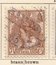 Países Bajos 1898-99 rápida de los problemas Fine Used 7.5 C. 119384